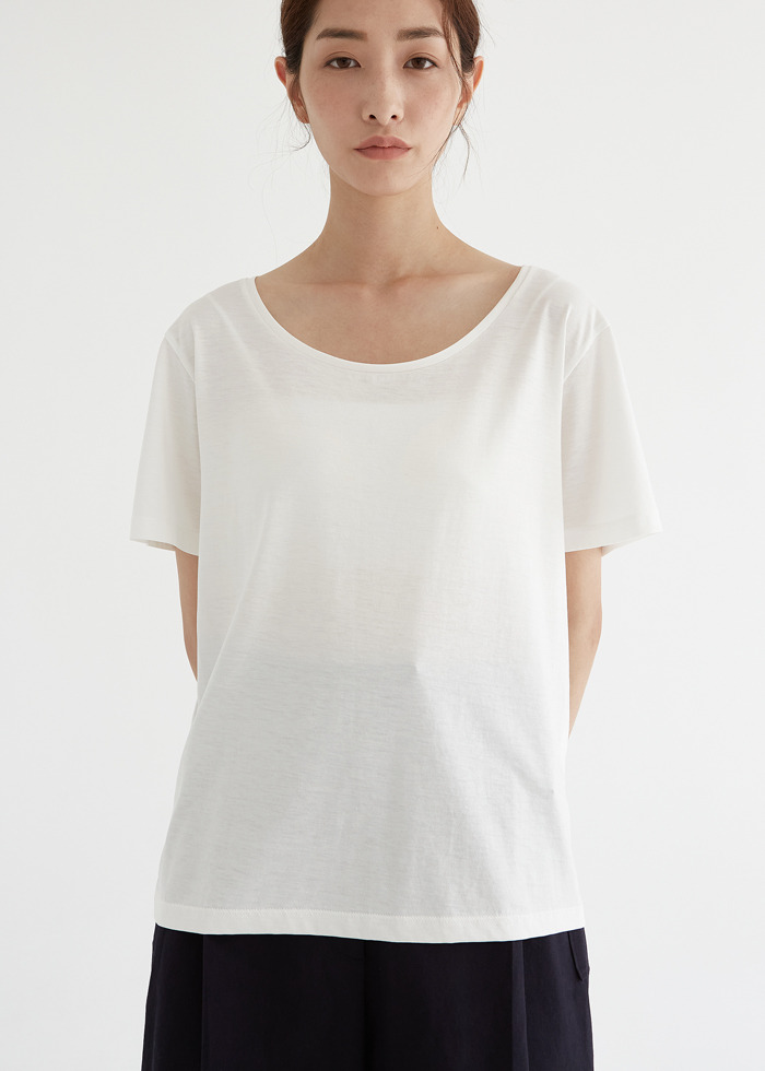 블루브릭,[cowood] Root wide t-shirt (ivory)