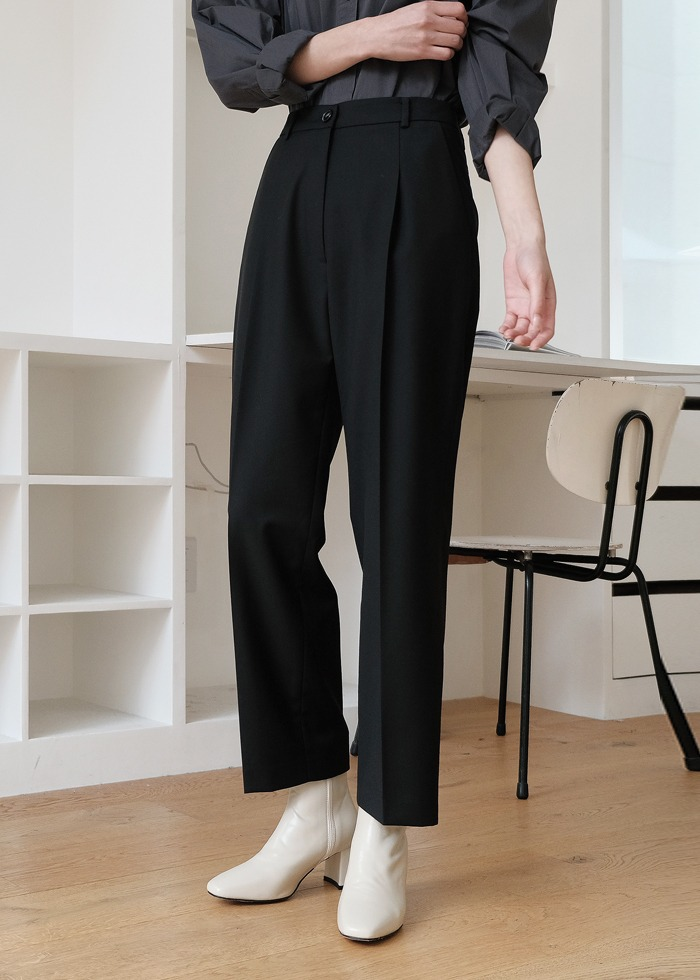 블루브릭,[cowood] Signature slacks (black)