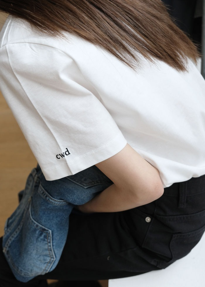 블루브릭,[cowood] cwd half t-shirt (basic fit)