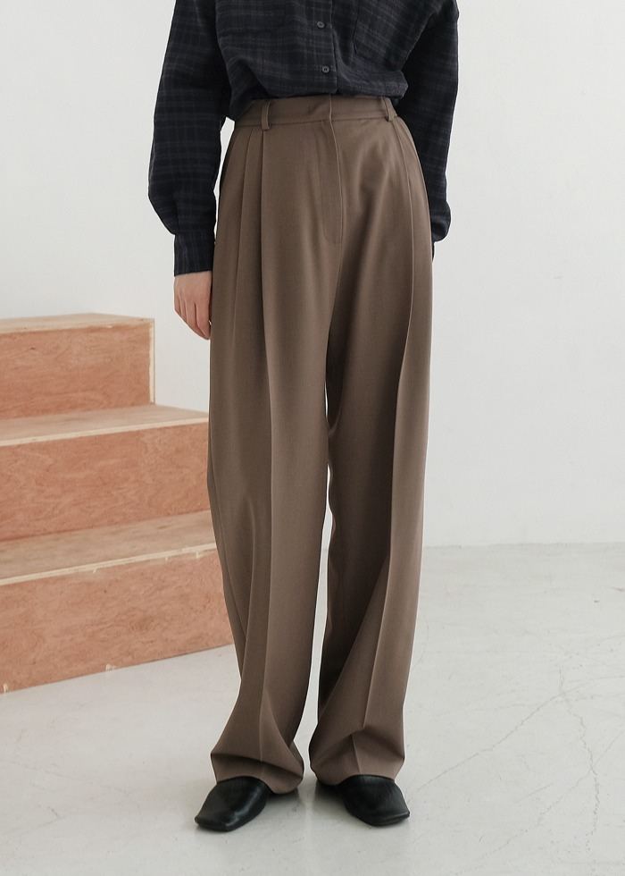 블루브릭,[cowood] Ford slacks (brown)