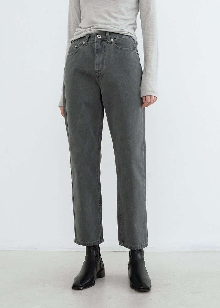 블루브릭,[cowood] Signature gray denim