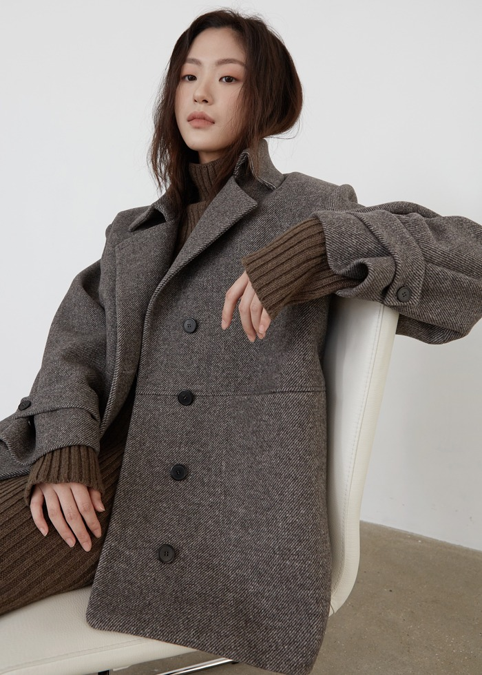 블루브릭,[cowood] Tom half coat (brown)
