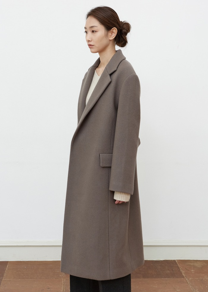 블루브릭,[cowood] Signature classic coat (mocha brown)
