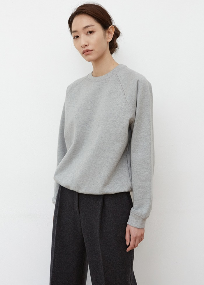 블루브릭,[cowood] cwd sweat shirt (melange)