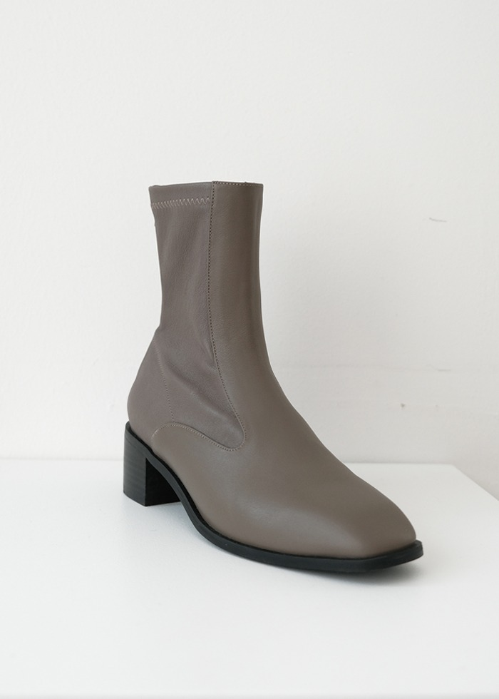 블루브릭,[cowood] Square ankle boots (brown)