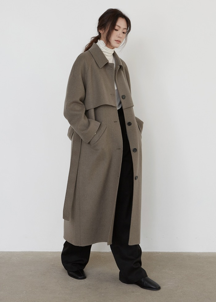 블루브릭,[cowood] Single handmade coat (mint gray)